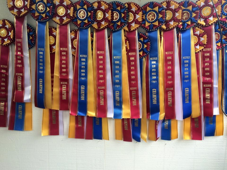 Westfield Riding Club Prize Ribbons